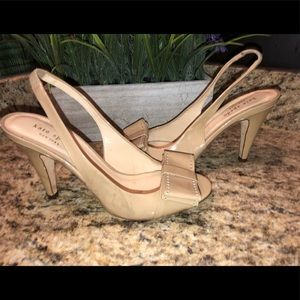 Kate Spade Peeptoe Bow Slingback Heels Size 7B